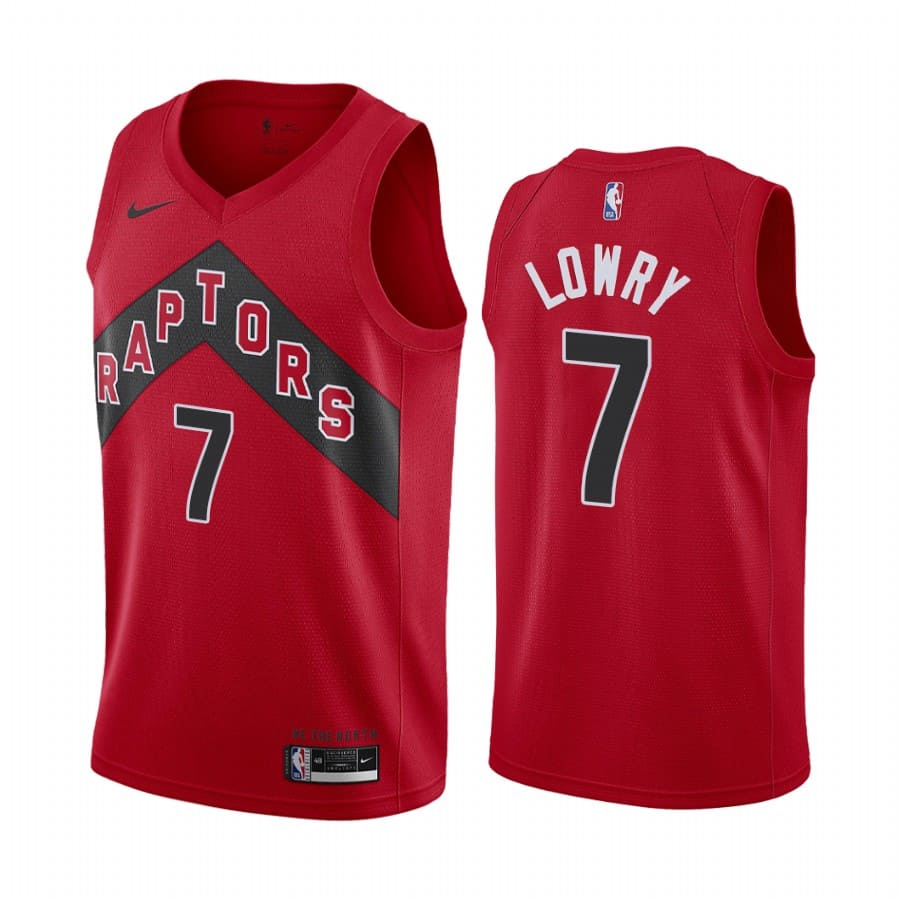 raptors kyle lowry red icon edition new uniform jersey