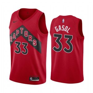 raptors marc gasol red icon edition new uniform jersey
