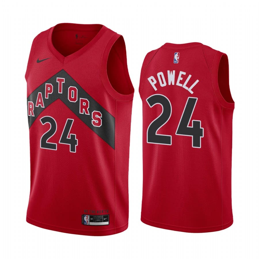 raptors norman powell red icon edition new uniform jersey