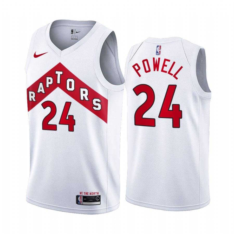 raptors norman powell white association edition jersey