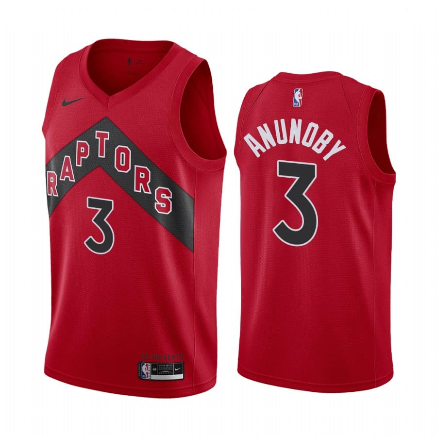 raptors og anunoby red icon edition new uniform jersey
