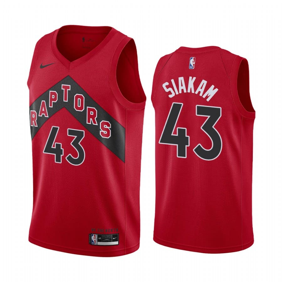raptors pascal siakam red icon edition new uniform jersey