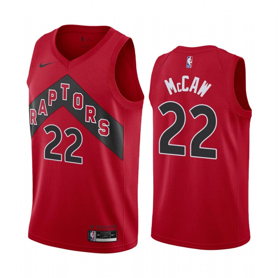 raptors patrick mccaw red icon edition new uniform jersey