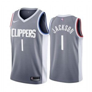 reggie jackson clippers 2020 21 earned edition gray jersey