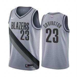 robert covington blazers 2020 21 earned edition gray jersey