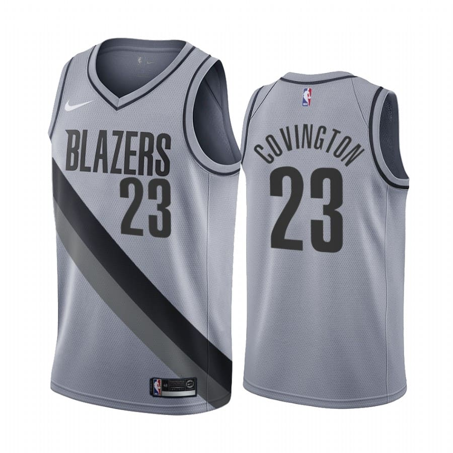 robert covington blazers 2020 21 earned edition gray jersey