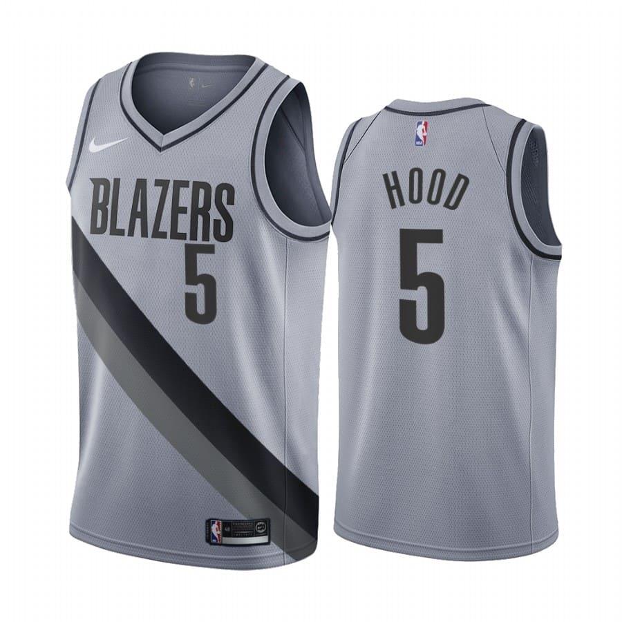 rodney hood blazers 2020 21 earned edition gray jersey