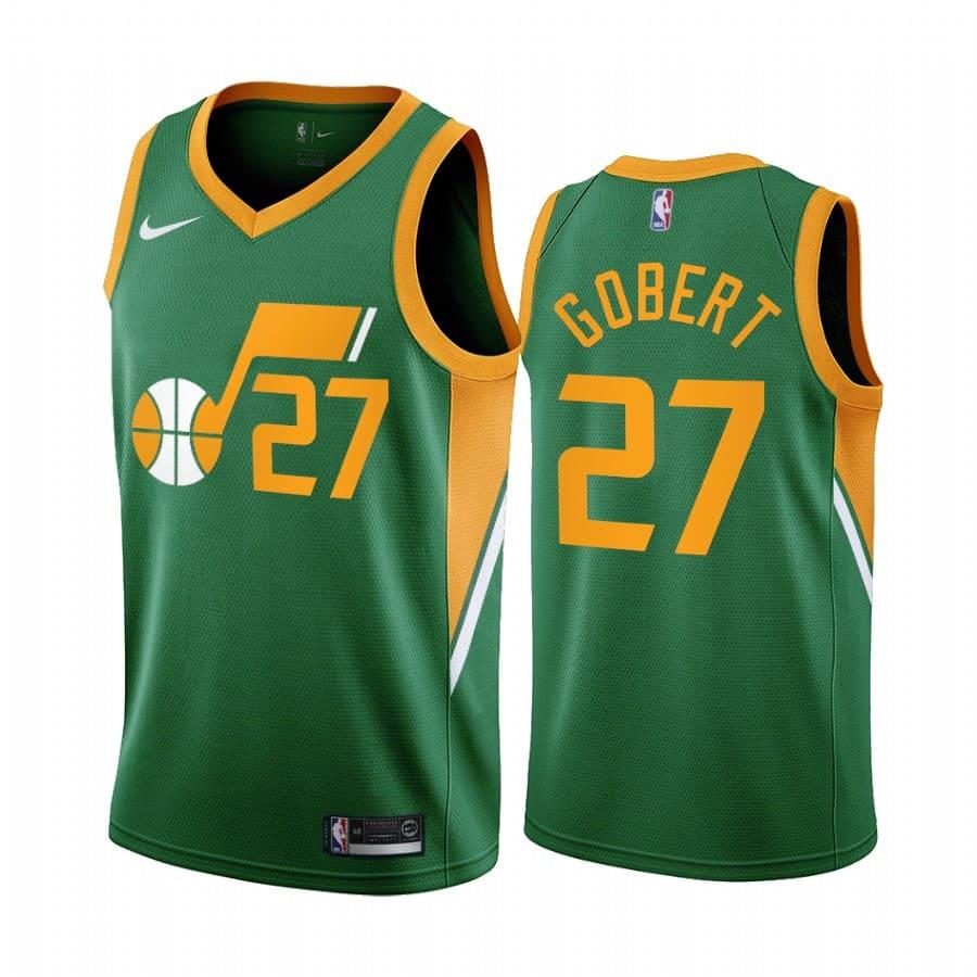 rudy gobert jazz 2020 21 earned edition green jersey