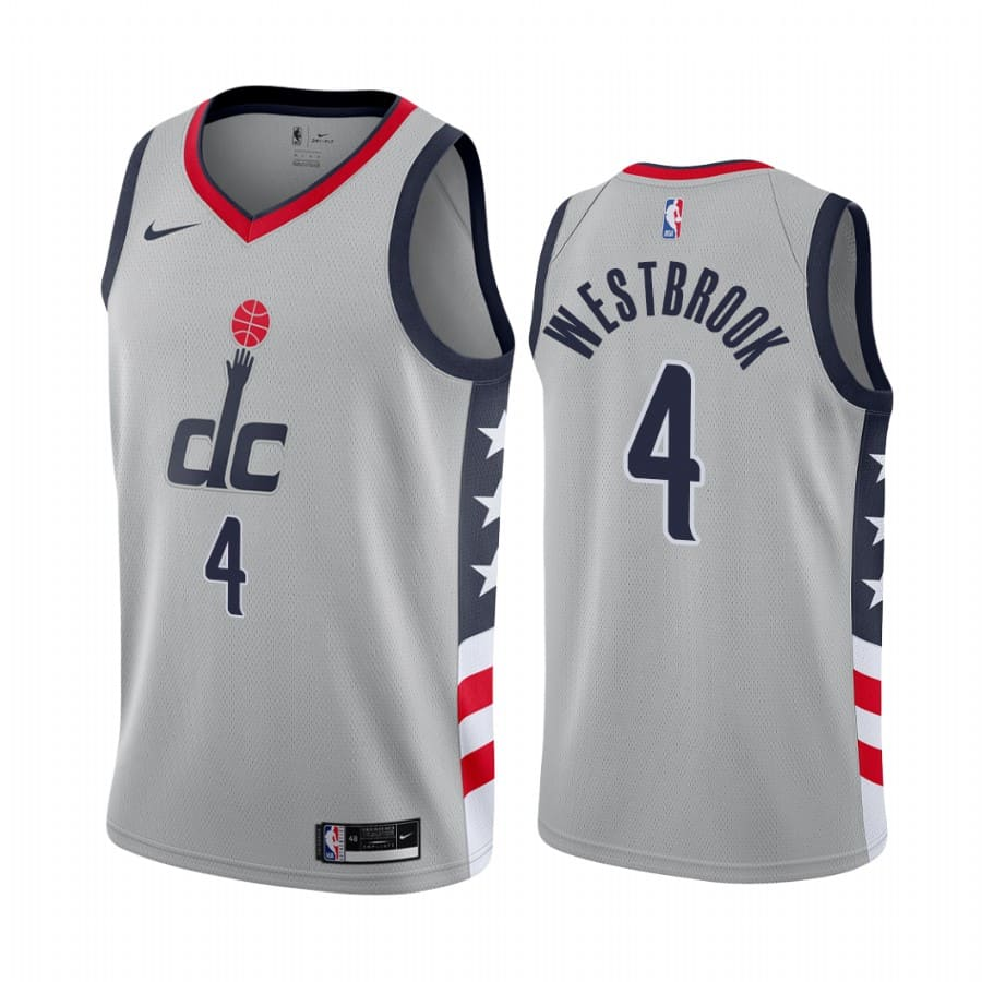 russell westbrook wizards gray city edition 2020 21 jersey