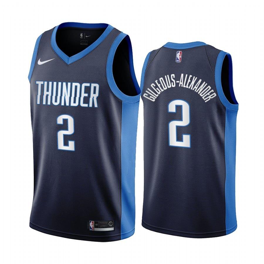 shai gilgeous alexander thunder 2020 21 earned edition navy jersey