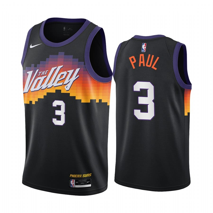 suns chris paul black city edition 2020 trade jersey