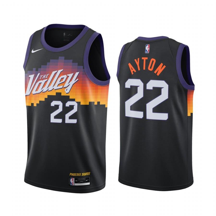 suns deandre ayton black city edition the valley jersey