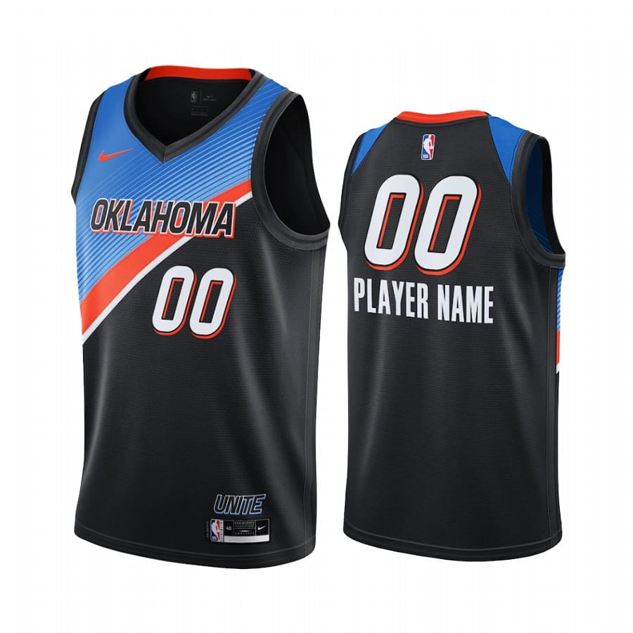 thunder custom black city edition player jersey 1