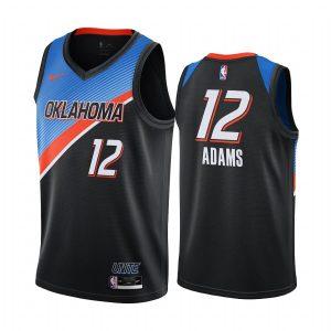 thunder steven adams black city edition player jersey 1
