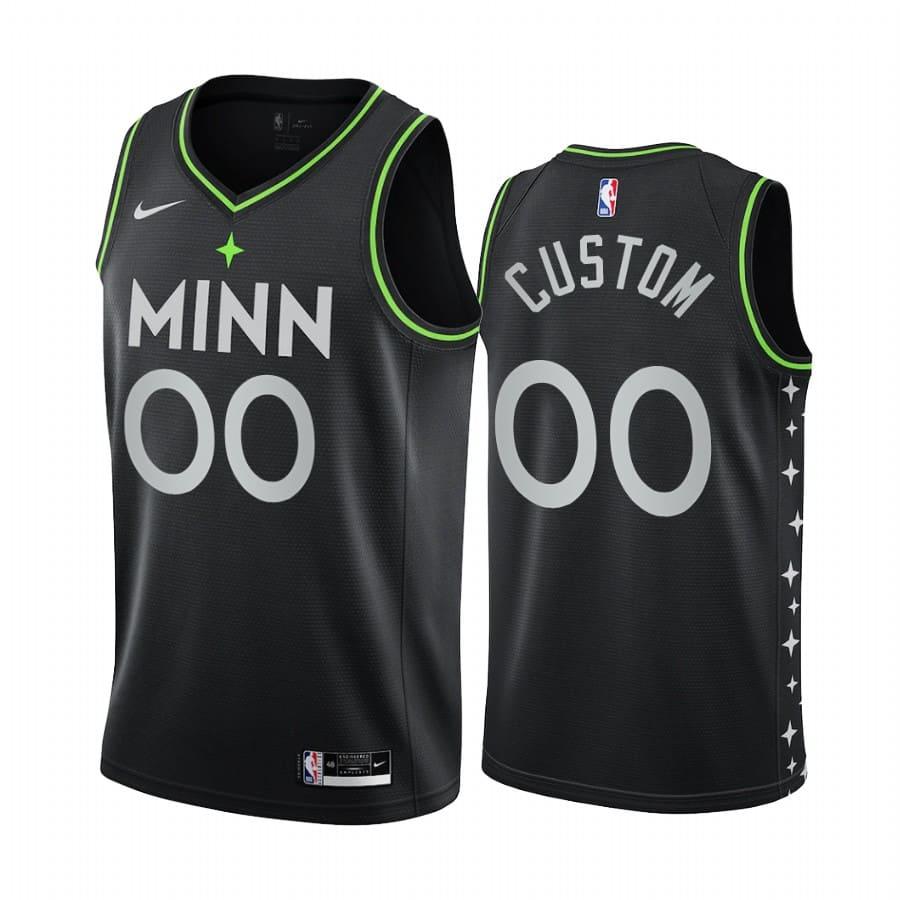 timberwolves custom black city edition new uniform jersey 1