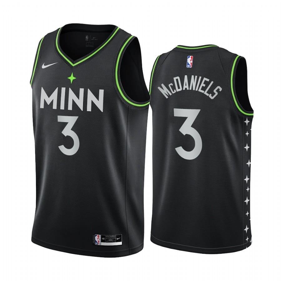 timberwolves jaden mcdaniels black city 2020 nba draft jersey 1