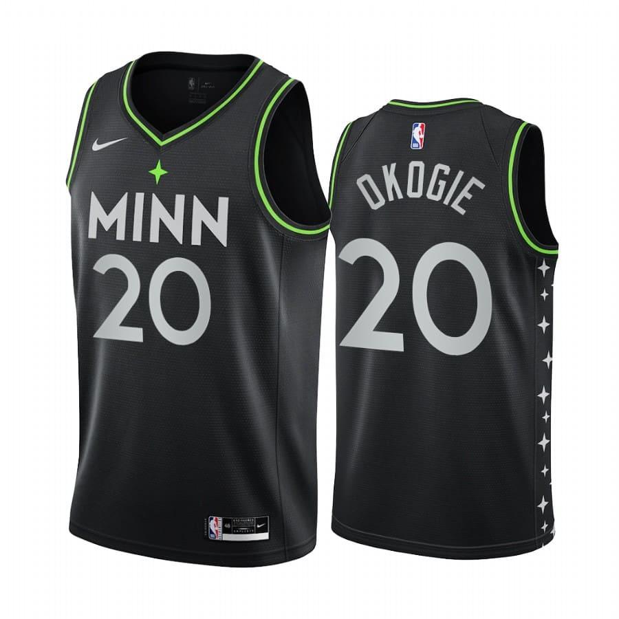 timberwolves josh okogie black city edition new uniform jersey 1