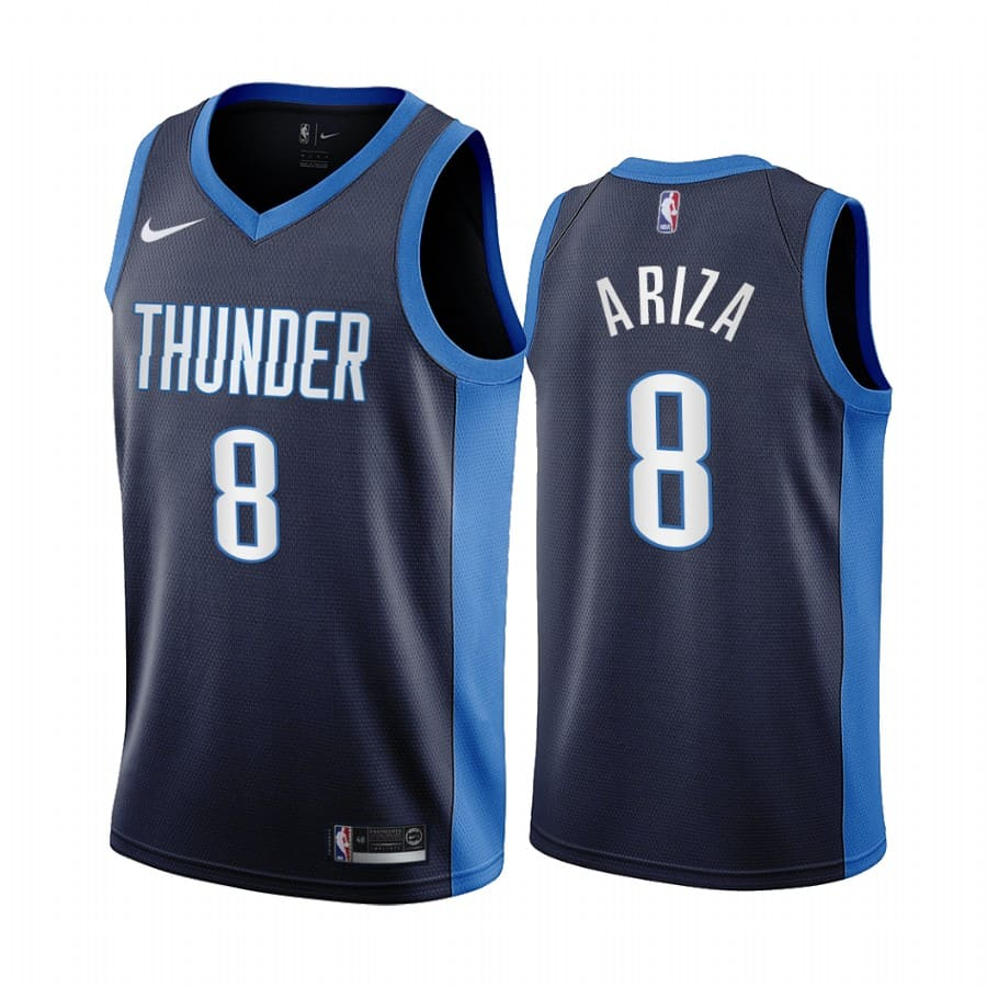 trevor ariza thunder 2020 21 earned edition navy jersey
