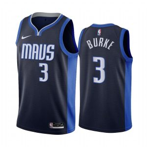 trey burke mavericks 2020 21 earned edition navy jersey