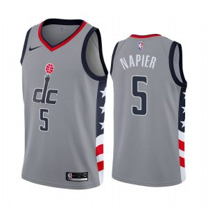 wizards shabazz napier gray city edition jersey