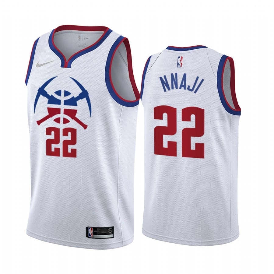 zeke nnaji nuggets 2020 21 earned edition white jersey