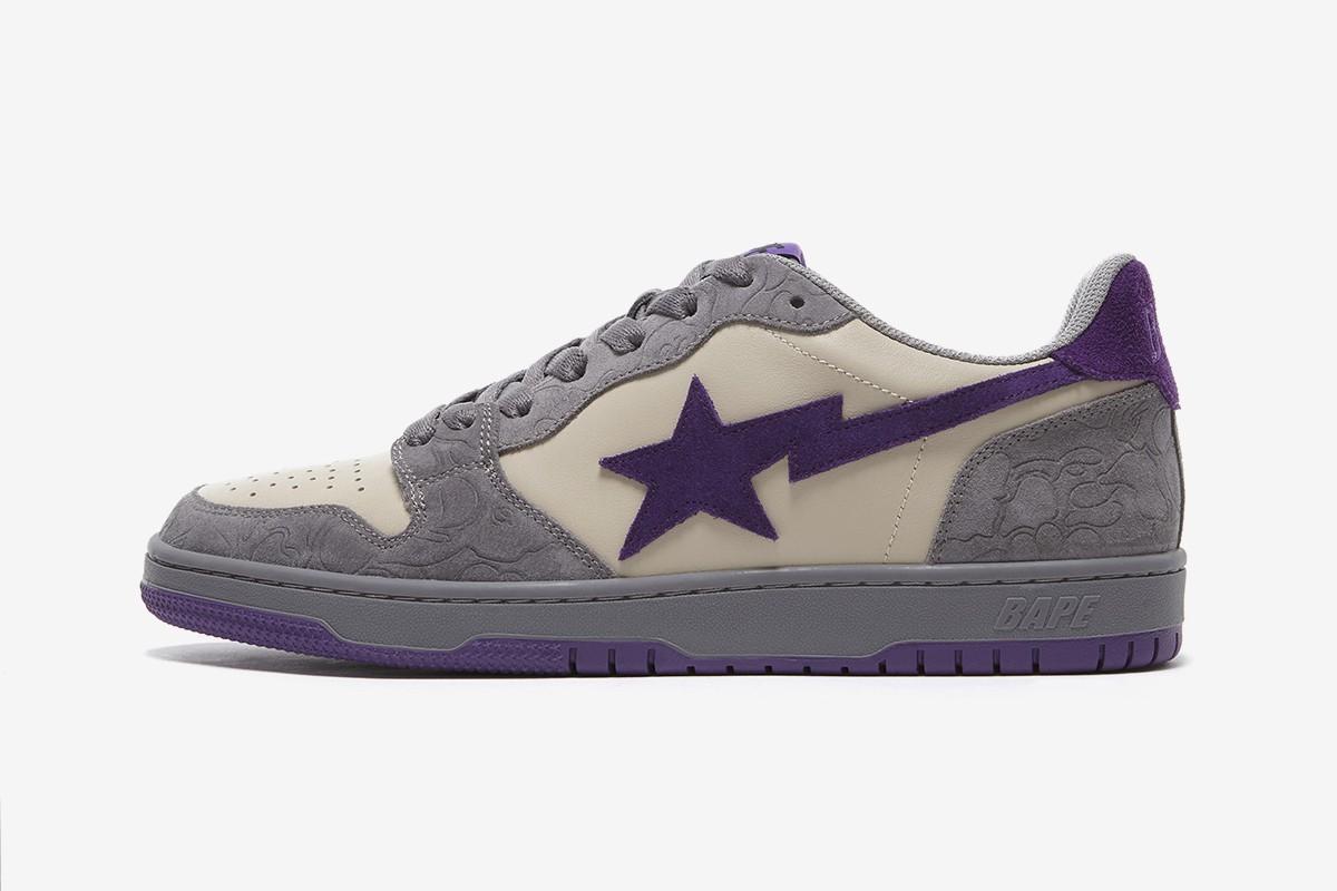 1. BAPE COURT STA Mist Grey Royal Purple