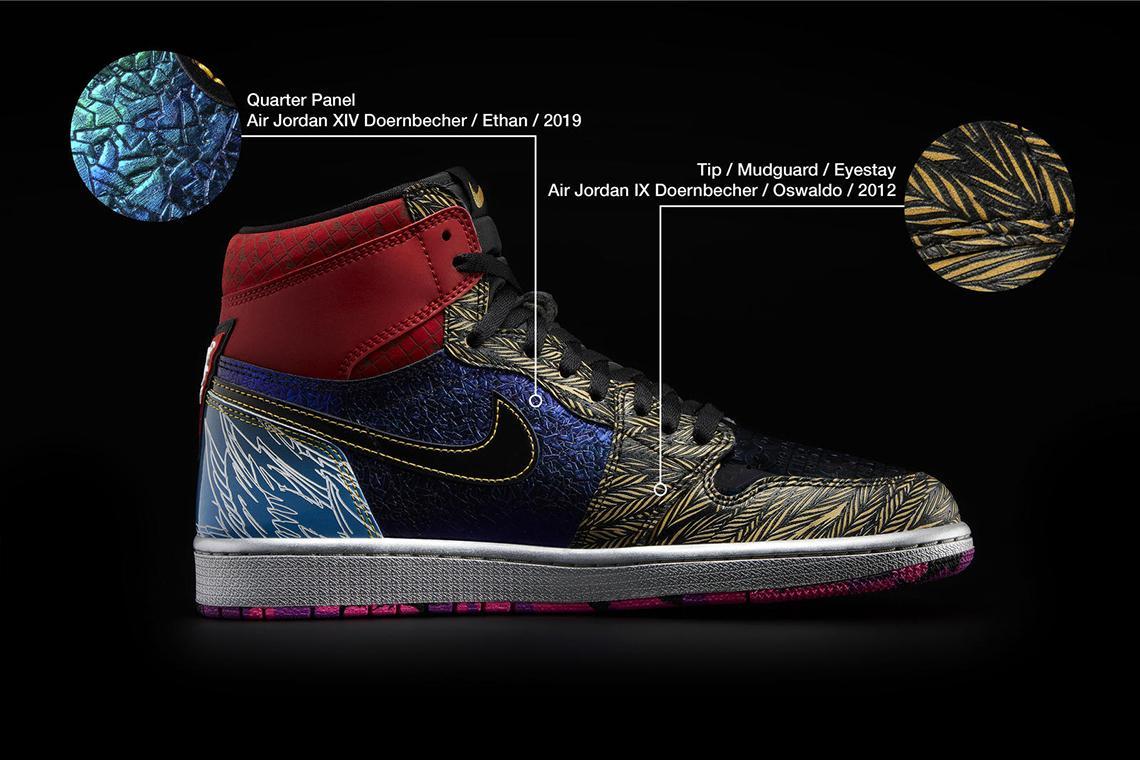 Air Jordan 1 What The Doernbecher obedinyat v sebe 14 dizajnov 7