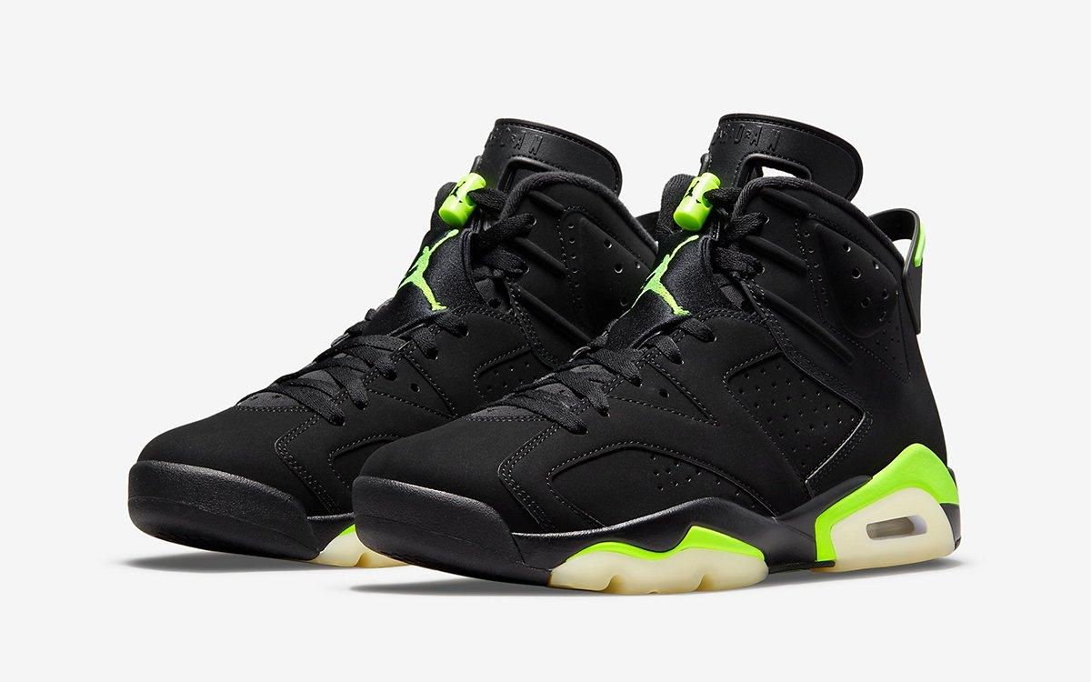 Ofitsialnye izobrazheniya Air Jordan 6 Electric Green