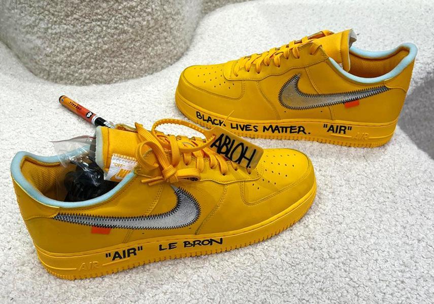 Virdzhil Ablo podpisal novye Off White x Nike Air Force 1 Low spetsialno dlya Dzhejmsa Lebrona