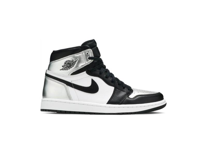 Wmns Air Jordan 1 Retro High OG Silver Toe
