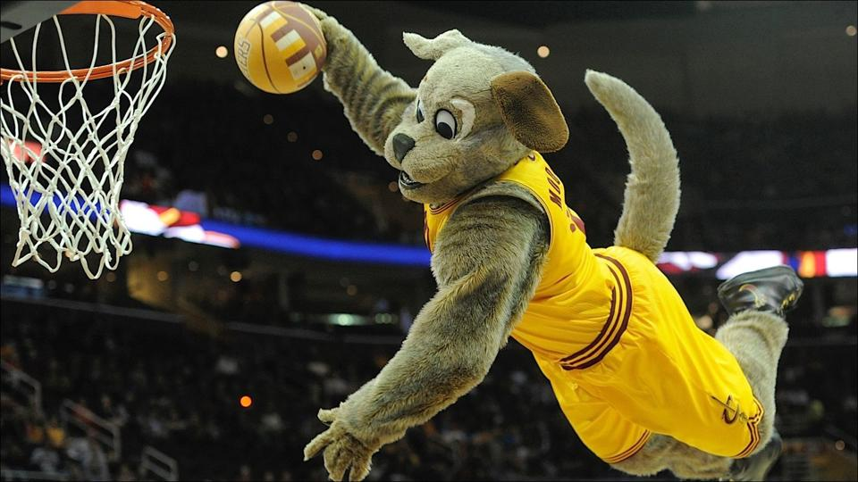Zabavnye talismany komand NBA Cleveland Cavaliers i Moondog