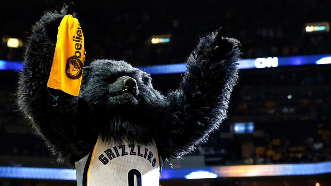 Zabavnye talismany komand NBA Memphis Grizzlies i Grizz