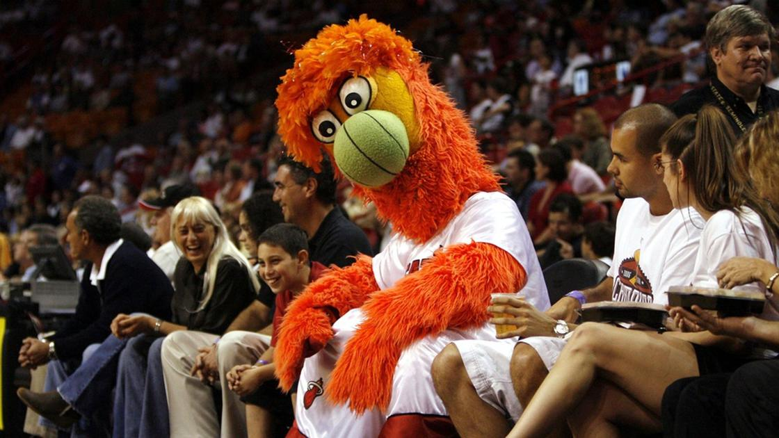 Zabavnye talismany komand NBA Miami Heat i Burnie