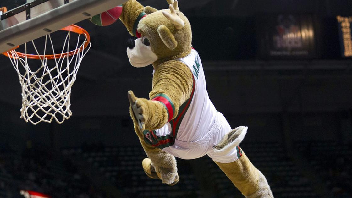 Zabavnye talismany komand NBA Milwaukee Bucks i Bango