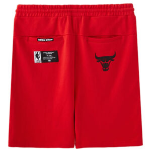 2018 NBA Chicago Bulls Red Shorts 2