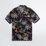 2018 NBA Miami Heat Black Palm Shirt Unisex 1