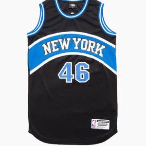 2018 NBA New York Knicks 46 Black Blue 1