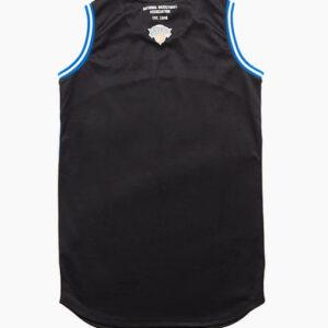 2018 NBA New York Knicks 46 Black Blue 2