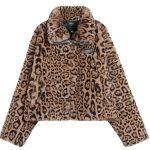 2020 Brooklyn Nets Leopard Short Fur Coat Womens 1