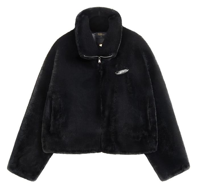 2020 Brooklyn Nets Leopard Short Fur Coat Womens 3