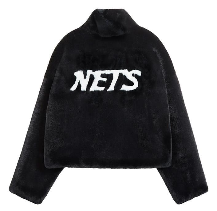 2020 Brooklyn Nets Leopard Short Fur Coat Womens 4
