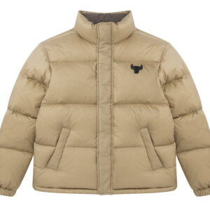 2020 Chicago Bulls Beige Down Jacket Unisex 3