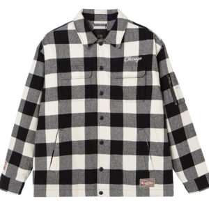 2020 Chicago Bulls Cotton Check Shirt Unisex 1
