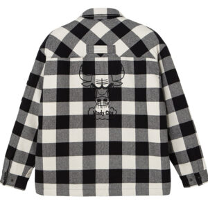 2020 Chicago Bulls Cotton Check Shirt Unisex 2
