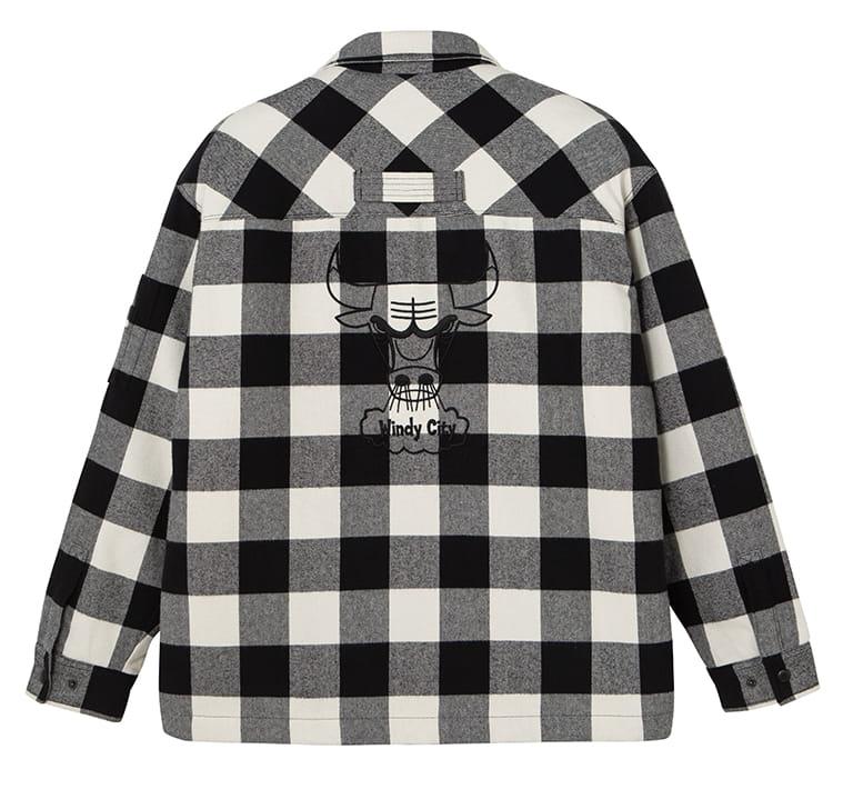2020 Chicago Bulls Cotton Check Shirt Unisex 2