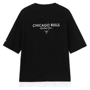 2020 NBA Chicago Bulls Black White Tee Unisex 2