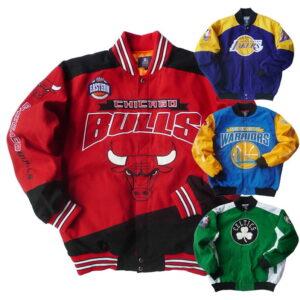 NBA Teams Multicolor Bomber Jackets 1