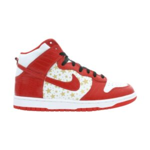Supreme x Nike Dunk High Pro SB Red Stars