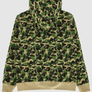 BAPE ABC Camo BAPE Swarovski Full Zip Hoodie Green 2