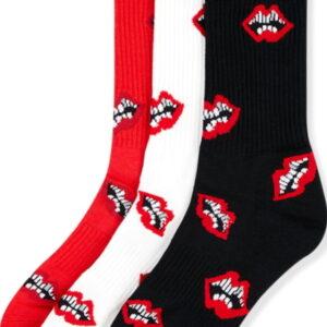 Chrome Hearts 3 Pack Chomper Socks Multicolor 1